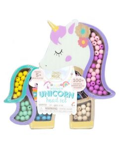 WOODEN UNICORN BEAD SET