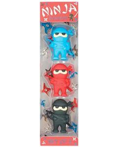 Small Image for NINJA ERASERS SET OF 3