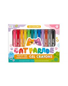Cat Parade Gel Crayons12 Twist-Up Colors