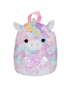 Squishmallow 12 Inch BackpackTie Dye Unicorn with Sequin Belly