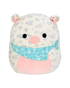 Squishmallow Spring 16~Inch Spotted Pig with Aqua Bandana