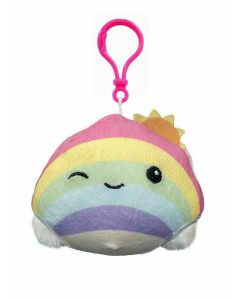 Squishmallow 3.5 inch Clip OnRainbow with Sun