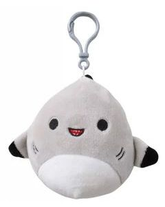 Squishmallow 3.5 Inch ClipShark with Black Fins