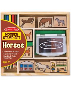 Small Image for WOODEN STAMP SET HORSES