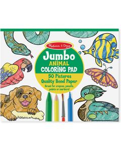 Small Image for JUMBO COLORING PAD~ANIMALS