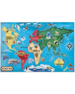 Small Image for PUZZLE 33 PC~WORLD MAP