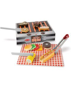 Small Image for WOODEN GRILL AND SERVE~BBQ SET