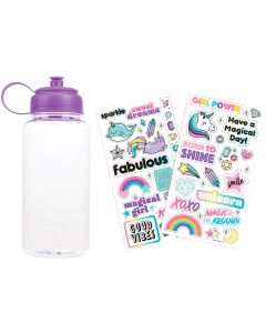 Small Image for STICKER ME WATER BOTTLE~PURPLE