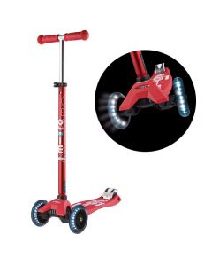 Maxi Deluxe LEDScooter - Red