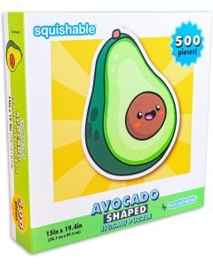 Small Image for SQUISHABLE AVOCADO SHAPED~PUZZ