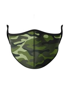 Small Image for KID MASK AGES 3-7~GREEN CAMO