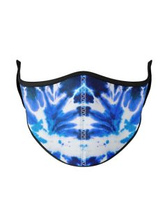 Small Image for ADULT MASK AQUA~&BLACK TIE DYE