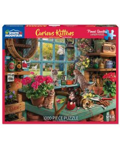 CURIOUS KITTENS 1000PC  PUZZLE